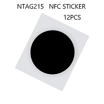 jiaxing NFC Tag, Etiqueta Negra NTAG 215, Etiqueta Adhesiva ...