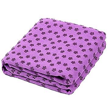 Toalla de Yoga Mat 72 pulgadas x 24 pulgadas, antideslizante toalla de Yoga con bolsa