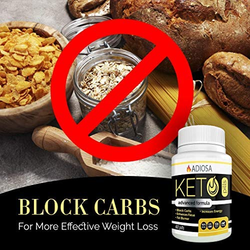 Adiosa Keto Carb Blocker Weight Loss Pills - Supplements to Burn Fat Fast - 60 Pills - Premium Keto Supplement - Keto Appetite Suppressant for Women & Men - Keto Meal Replacement by Adiosa (Image #6)
