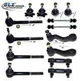 1996 chevy k1500 ball joint kit - DLZ 14 Pcs Front Suspension Kit-2 Upper 2 Lower Ball Joint 2 Inner 2 Outer Tie Rod End 2 Adjusting Sleeve 2 Sway Bar 1 Pitman Arm 1 Idler Arm for 4WD 1995-1999 Chevrolet K1500 K2500 Tahoe Yukon