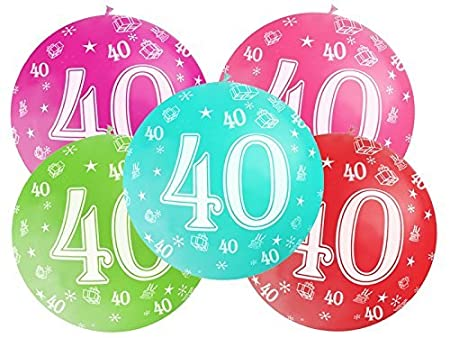 Globo Globo 1 metro de látex Número 40 cumpleaños 40 años 1 ...