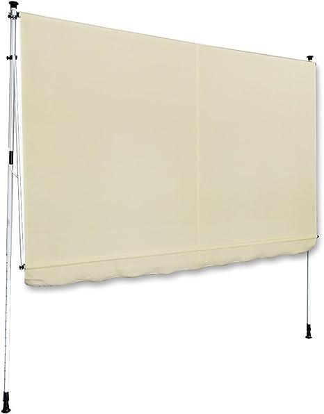 Sujeción de toldo (2 x 1, 2 m Beige Perfil (Color: Blanco) Balcón Toldo toldos (Protección Solar Pinza Toldo: Amazon.es: Jardín