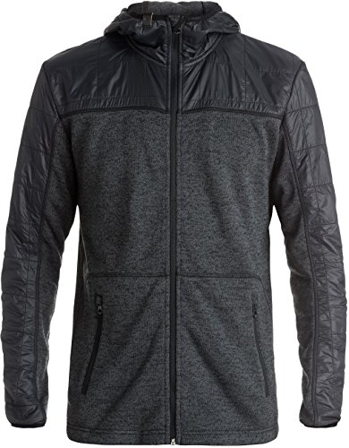Quiksilver Pullover Sweatshirt - Quiksilver Mens Lodge Hoody Zip Sweatshirt Large Black