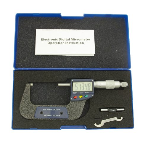 50-75mm (2-3 inch) External/Outside Digital Micrometer With Large Display