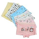 Closecret Kids Series Baby Underwear Little Girls' Cotton Boyshorts Panties (Pack of 6) (Style 1, 5-6 Years)