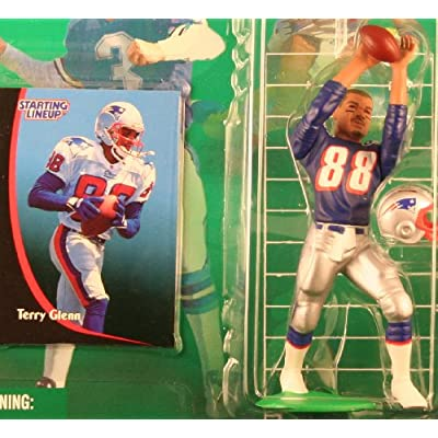 Starting Lineup Terry Glenn / New England Patriots 1998 NFL Action Figure & Exclusive NFL Collector Trading Card: Toys & Games