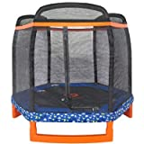 Jump Power 88'' Hexagon ''ASTM Safety Approved'' Kids Indoor/Outdoor Trampoline & Safety Net Enclosure Combo
