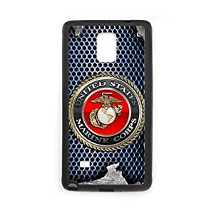 Fashionable Design Special Design USMC Marine Corps on Metal Pattern SamSung Galaxy Note4 Plastic and TPU (Laser Technology) Case Cover