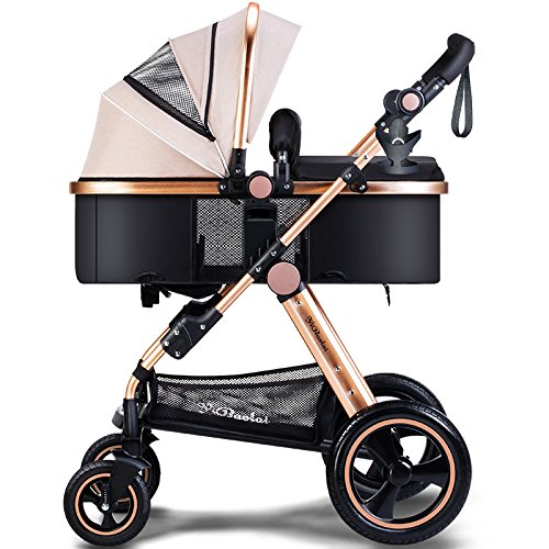 AXDZ nd High Landscape Baby Stroller Can Sit Lie pram Cart Foldable Folding Hand Truck