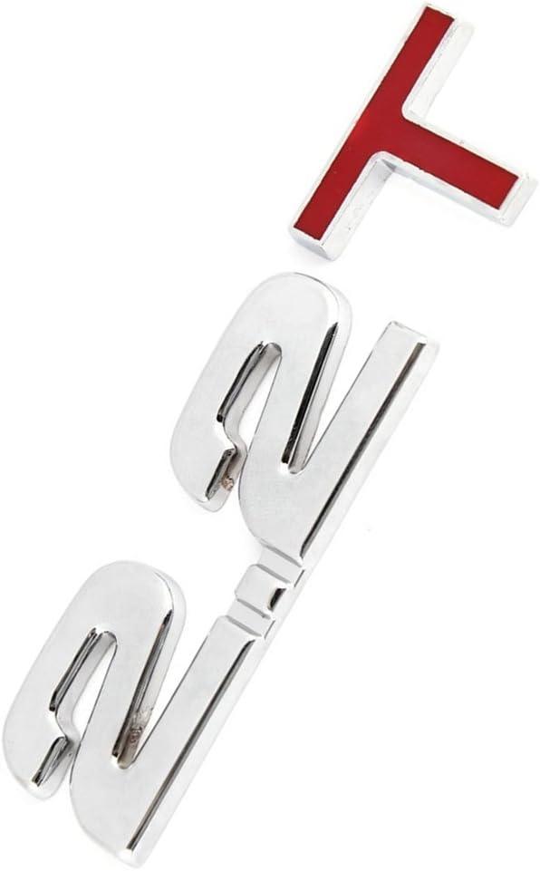 R SODIAL Alloy 2.2T Pattern 3D Auto Car Emblem Badge Sticker silver+red