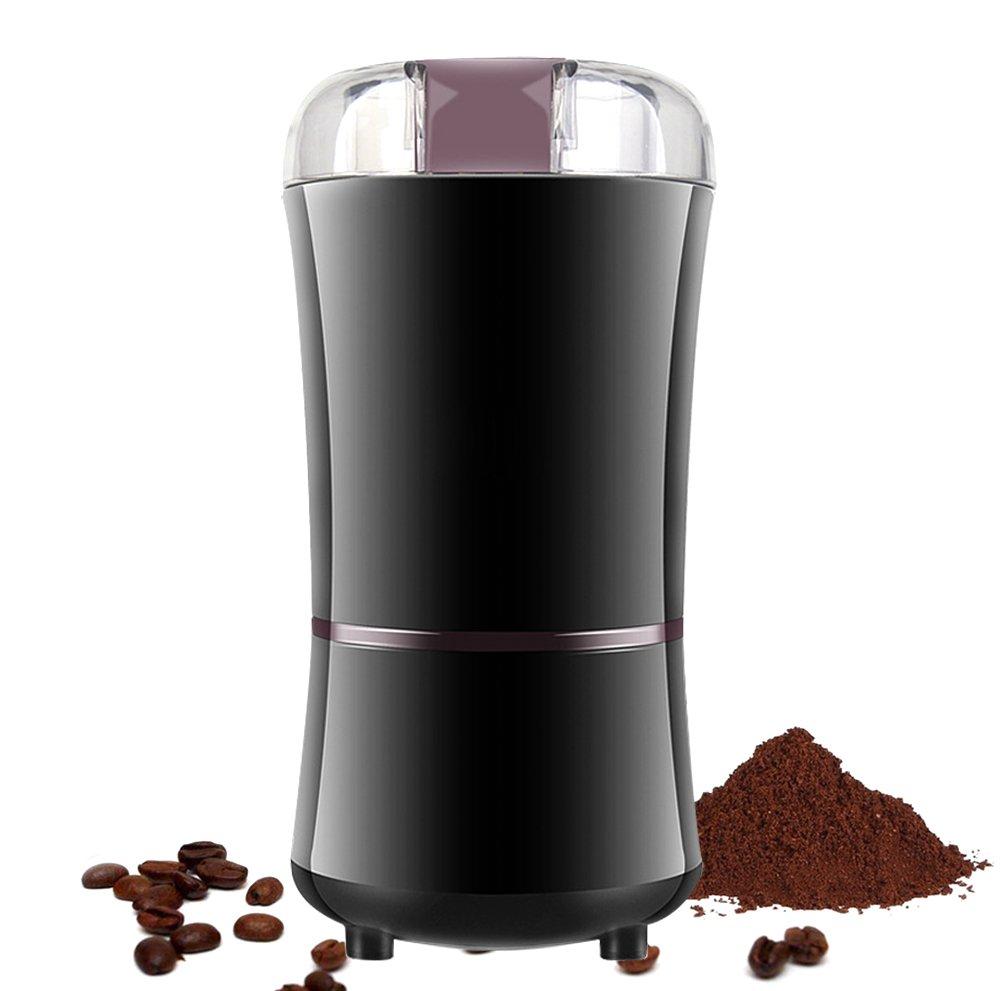 Elektrische Kaffeemühle, SZSMD Mächtig Kaffeemühle mit Edelstahlmesser fur Kaffeebohnen Kräutern Nüsse Gewürze Getreide Elektrische Kaffeemühle