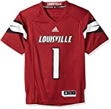 NCAA Louisville Cardinals Adult Men Premier Football Jersey, Small, Black