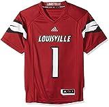 NCAA Louisville Cardinals Adult Men Premier Football Jersey, Small, Black