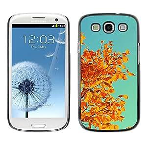 Qstar Arte & diseño plástico duro Fundas Cover Cubre Hard Case Cover para SAMSUNG Galaxy S3 III / i9300 / i747 ( Autumn Yellow Orange Leaves Tree Branch)