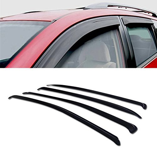- VXMOTOR for 2005-2010 Chevy Cobalt 4 Door Models JDM Sun/RAIN/Wind Guard Smoke Vent Shade Deflector Window Visor 4PCs