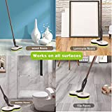 GOBOT Cordless Rechargeable Electric Mop, Floor Mop Scrubber Powerful Cleaner Handheld 180° Auto Rotating +2 Extra Accessories, Polisher for Indoor Any Surfaces