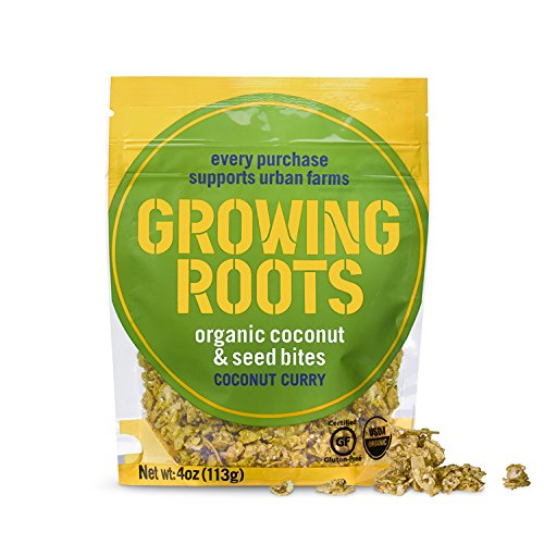 Growing Roots Organic Coconut and Seed Snacks, Coconut Curry, 4 oz