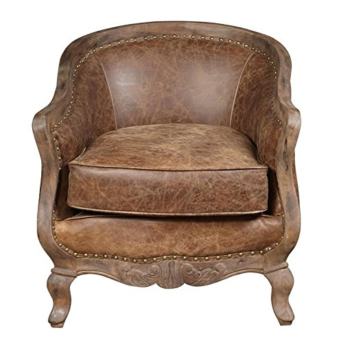 Pulaski P006206 Home Comfort Collection Traditional Tufted Leather Barrel  Arm