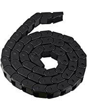 TOOGOO 10 x 10 mm L1000 mm Cable Drag Chain Transportador con conectores finales para herramientas de impresora 3D