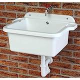 Grifo de lavabo | lavabo | fregadero | Plato que incluye desagüe, tornillos y tacos para la pared