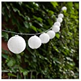 CocoMarket lamp-Solar Fairy Lantern Party Garden Christmas Halloween Lighting Decoration(White,one size)