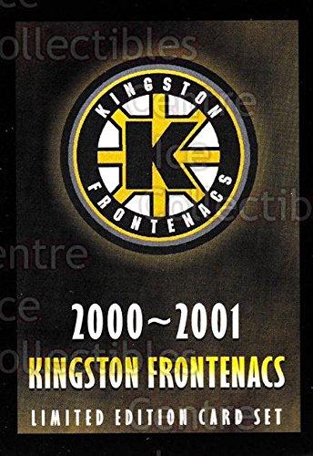 (CI) Header Card, Checklist Hockey Card 2000-01 Kingston Frontenacs 24 Header Card, - Shops List Kingston