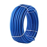 AB PEX Tubing 1/2 Inch Potable Water Pipe 1 Roll Blue Non-Barrier 1/2'' 300ft for Cold and Hot Plumbing