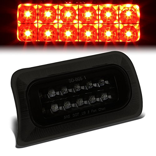 - For S10 / Sonoma/Hombre GMT325 Standard Cab High Mount Dual Row LED 3rd Brake Light (Black Housing Smoke Lens)