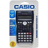 Calculadora Científica com 240 Funções, Visor de 2 Linhas e 10 Dígitos, Casio, FX-82MS, Cinza