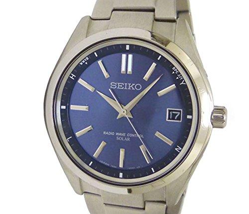 815639e167 Amazon | セイコー メンズ腕時計 ブライツ チタン ソーラー電波 ネイビー文字盤 SAGZ081 [中古] | 国内メーカー | 腕時計 通販