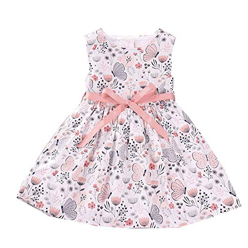 Hipea Baby Girl Clothes Bohemian Sleeveless Flower Princess Floral Formal Kids Summer Dress Skirt