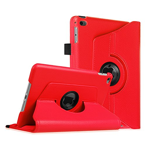 Fintie iPad mini 4 Case - 360 Degree Rotating Stand Case with Smart Cover Auto Sleep / Wake Feature for Apple iPad mini 4 (2015 Release), Red