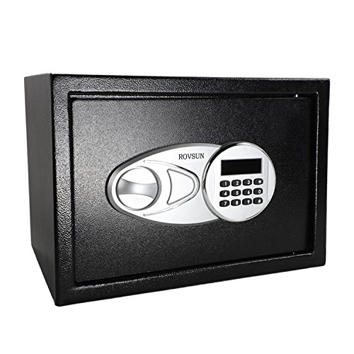 ROVSUN Digital Security Safe Box 0.5 Cubic Feet Electronic Cabinet with Combination Lock&Solid Steel Construction, Great for Home Office Hotel Business Jewelry Money Passport (Included Battery) Personal Strong Box Safe