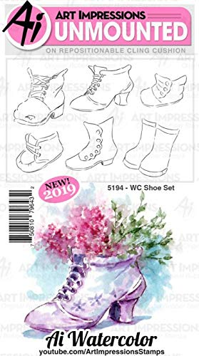 ART IMPRESSIONS 5194 AI Rubber Stamp Set WC Shoe by Art Impressions