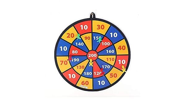 Chengzuoqing Dardos para niños Juego de Tablero de Dardos con 8 Bolas con Sujetadores de Gancho y Bucle for Juegos Grandes de Seguridad Infantil Juegos de Interior y Exterior: Amazon.es: Hogar