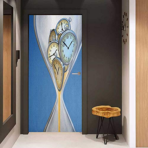 Onefzc Pantry Sticker for Door Clock Hourglass Time, used for sale  Delivered anywhere in USA
