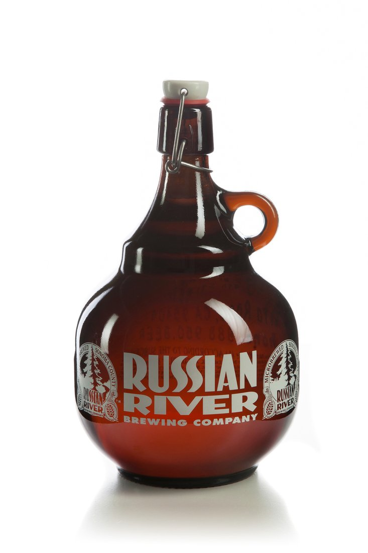 Russian River Brewing Company - 2 Liter Glass Growler - Pliny The Elder