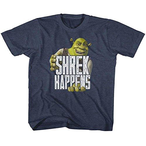American Classics Shrek Movie Happens Navy Heather Toddler Little Boys T-Shirt -