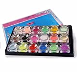 Welcomeuni 21 in 1 Professional Acrylic Glitter Color Powder French Nail Art Deco Tips Set