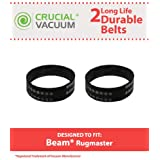 2 Beam Rugmaster Belts, Fits Beam Rugmaster, Butler, Serenity, Advocate & Imperial Vacuums, Compare to Part # 155301-002, Designed & Engineered by Crucial Vacuum