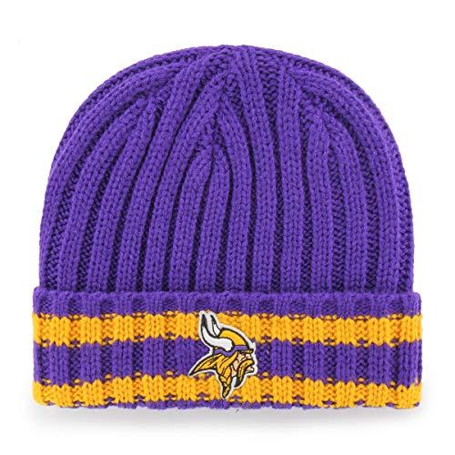 NFL Minnesota Vikings Bure OTS Cuff Knit Cap, Purple, One Size