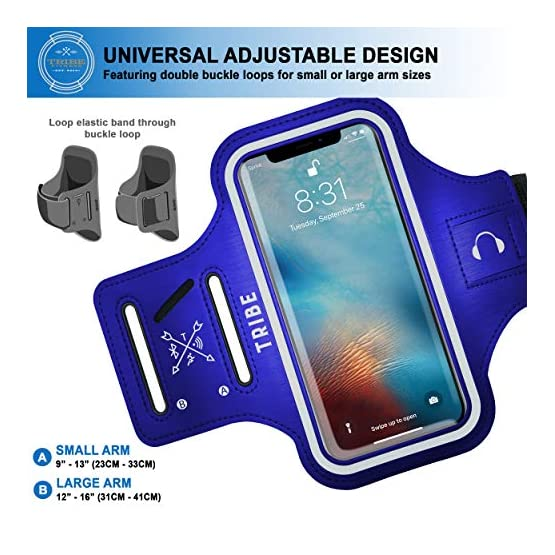 54c5e2ff8 TRIBE Water Resistant Cell Phone Armband Case for iPhone Xs Max