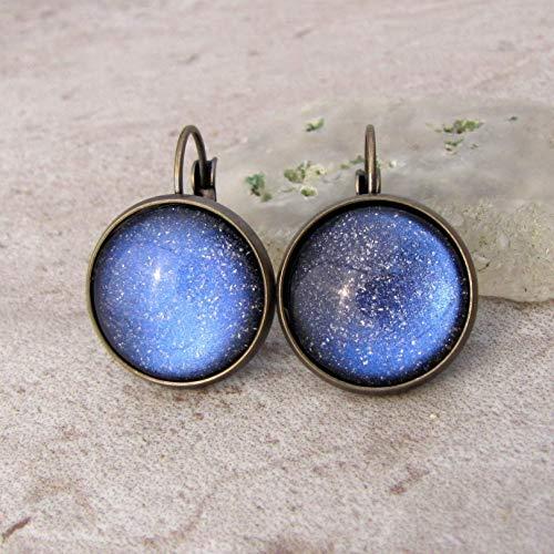 - Lavender Galaxy Dangle Earrings
