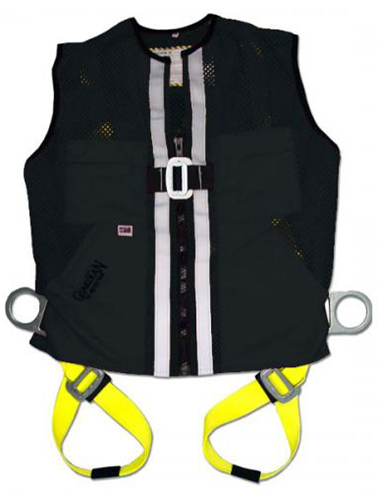Guardian Fall Protection 2620-GFP Black Mesh Construction Tux Harness, Large