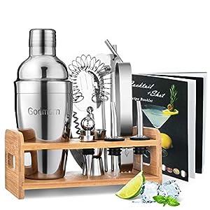 Godmorn Cocktail Shaker Set,14 + 1 Pezzi Kit da Barman in Acciaio Inox,Set di Strumenti Bar,550ml Shaker con Accessori… 9