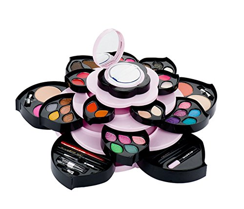 Qichen makeup set / petal big flower rotating makeup box / eye shadow blush combination