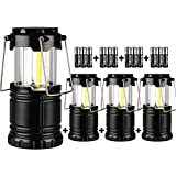 ZTX Portable Outdoor Super Bright COB Camping Lantern, Great Lights for Hiking, Emergencies, Outages, Collapsible,4 Packs (Include 12pc AA alkaline batteries)