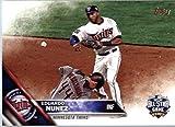 2016 Topps Update #US31 Eduardo Nunez Minnesota Twins Baseball All-Star Card in Protective Screwdown Display Case