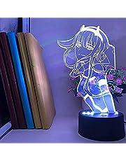 Schat in De FRANXX Nachtlampje 3D Illusie 02 Zero Twee Figuur Anime Karakter Tafellamp USB Aangedreven 7 Kleuren LED Verlichting met Touch Schakelaar voor Kids Geschenken Slaapkamer Decoratie