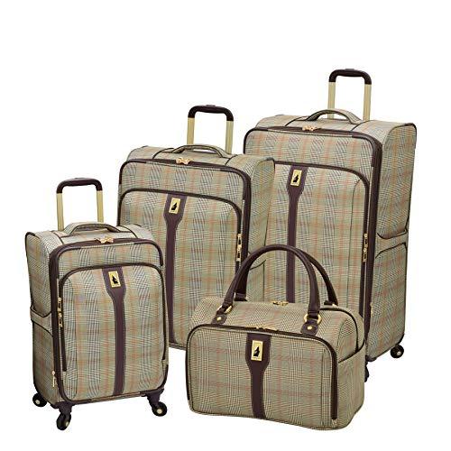 Luggage Plaid Sets (London Fog Knightsbridge 4-Pc Set (Brown Glen Plaid))